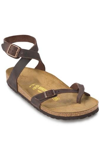 Yara esprit台灣outlet交叉帶套趾繞踝涼鞋, 女鞋, 鞋