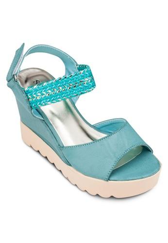 編織繞踝帶楔形涼鞋zalora 手錶 評價, 女鞋, 楔形涼鞋