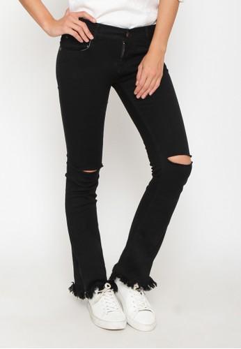 Nuber black Marigold Ripped BlackLadiesMid Bell Tassel Jeans - Stretch NU492AA0URB3ID_1