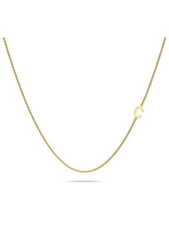Bullion Gold gold BULLION GOLD Dainty Alphabet Letter Necklace Gold Layered Steel Jewellery - C FC4E6AC5B6D14BGS_1