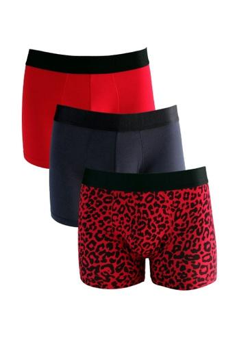 FANCIES 黑色 and 紅色 and 多色 FANCIES 炽热拳击手内裤-三件套 7E1C7USE512390GS_1