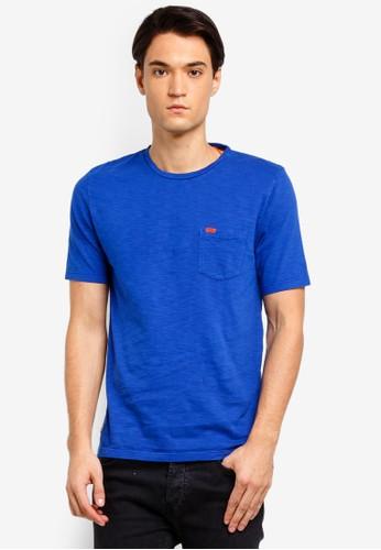 Superdry blue Dry Originals Pocket Short Sleeve Tee B3653AA9AD4AA2GS_1