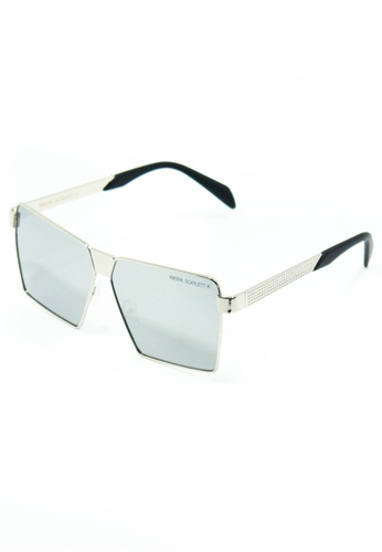 Amora Scarlett Roaring Beast Silver Lens Silver Frame Eyewear EC21CGLA579110GS_1