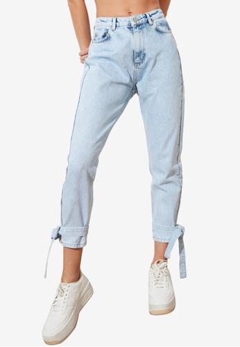 Trendyol blue High Waist Mom Jeans AEA4EAAE988D44GS_1