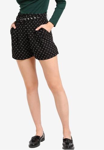 Something Borrowed black High Waist Shorts With Belt F5FAFAA96D0033GS_1
