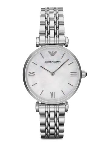 ARMANI silver Silver Steel/White Armani AR1682 Watch AR024AC98MVHMY_1