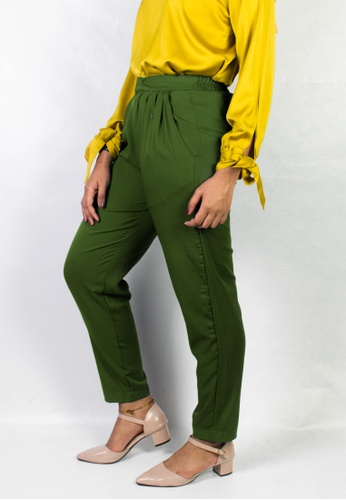 Zaryluq green Dress Pants in Matcha C56BCAA15394C8GS_1