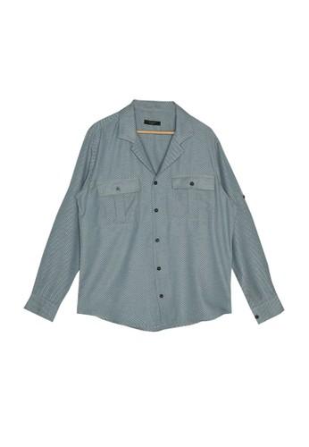 Trendyol blue Pocket Detail Shirt 689F4AA825E00CGS_1