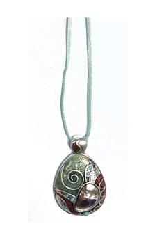 Lia Sophia Sea Dream Pendant Necklace with Leather Blue Strand