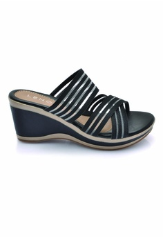 2f1485c48ddd LENO black Blaforwy Wedge Sandals (LS36614) LE122SH0RQK0MY 1 36% OFF LENO  Blaforwy Wedge Sandals (LS36614) RM 115.90 NOW RM 73.90 Sizes ...