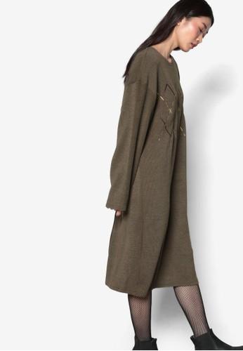 韓系時尚Argyle 針織長袖連身裙, esprit home 台灣服飾, 洋裝