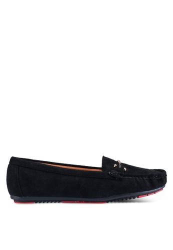 Noveni 黑色 休閒樂福鞋 15BF3SH941EF27GS_1
