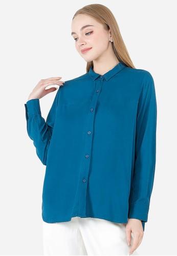 Urban Exchange blue Urban Exchange Lusia Blue Shirt 5FECFAA4E369D0GS_1