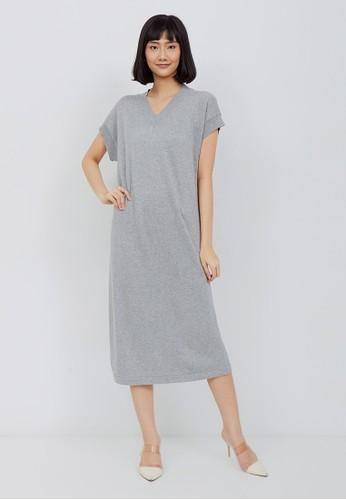 Kimora Kei grey Kimora Kei Baju Wanita Yoko Dress Misty Grey 08230AA64B6341GS_1