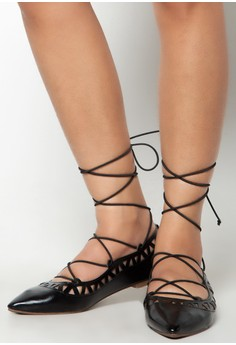 Aria Lace-Up Flats
