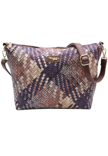 STRAWBERRY QUEEN brown Strawberry Queen Flamingo Sling Bag (Rattan AG, Dark Brown) ABEE3AC63B8778GS_1
