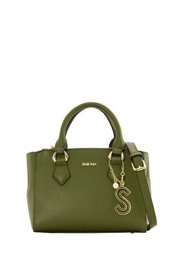 SEMBONIA green SEMBONIA Synthetic Leather Tote Bag (Green) 61ABCAC169491FGS_1