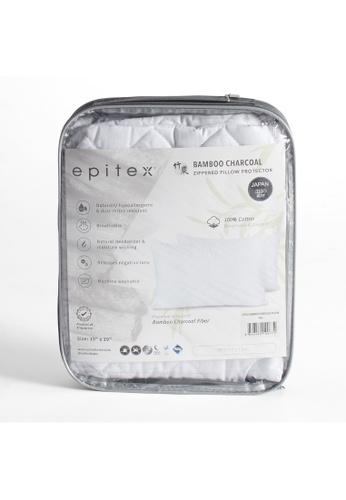 Epitex white Epitex Bamboo Charcoal Pillow Premium Protector - Pillow Case 13E3AHLBD431B9GS_1