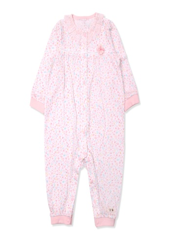 Organic mom pink Organic Cotton Angela Floral Swaddle Gown F34FDKA83A7A9EGS_1