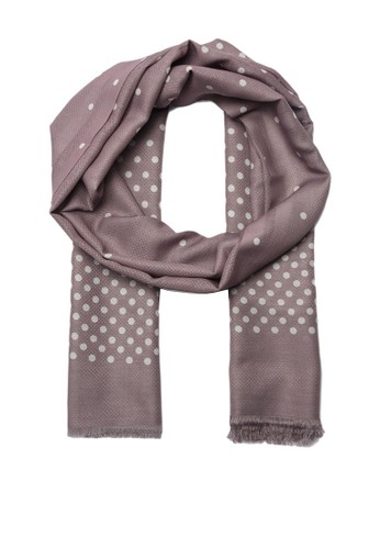 Trendyol grey Gray Patterned Scarf 337C3AAFB4E4CAGS_1