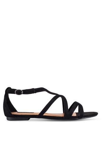 ZALORA black Cut Out Sandals AFA7ESHFAF3564GS_1