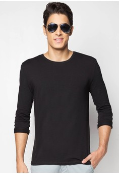 Basic Rn L/S Tee with 101 NY Met Emb