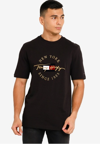 Tommy Hilfiger black Icon Roundall Tee BBCF2AA3859CCAGS_1