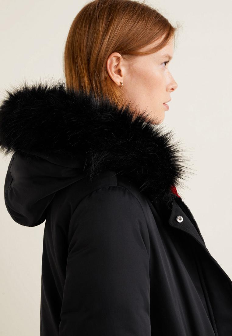 Feather Down Black Jacket Mango Reversible ZTqO05w57