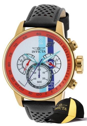 INVICTA gold Invicta S1 Rally Men Chronograph IP 48mm Quartz Watch 19901 w/ Free Official Baseball Cap EAAE1ACA37801CGS_1