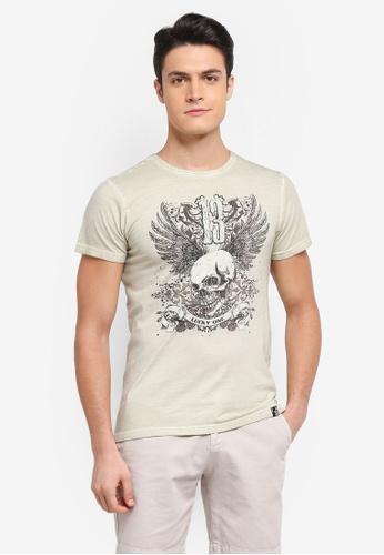 Indicode Jeans 白色 短袖圖案印花T恤 12181AAF2FEA08GS_1