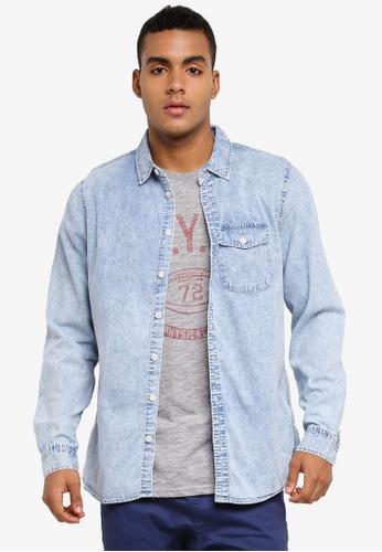 Cotton On blue 91 Shirt 19E8AAA7B43A83GS_1
