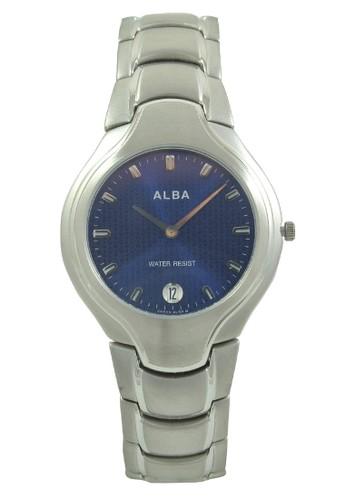 Alba silver ALBA Jam Tangan Pria - Silver Darkblue - Stainless Steel - AVKA75 AL383AC0V4ZHID_1