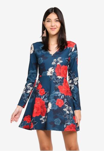 Buy MISSGUIDED Floral Print Skater Dress Online on ZALORA Singapore deebf9ad7