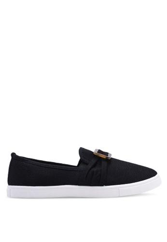 Rubi 黑色 紋理懶人鞋 345EESHB53003FGS_1