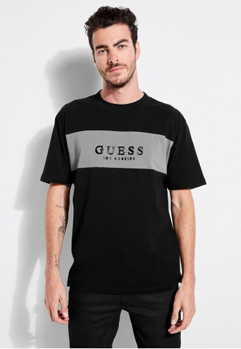 2ccebf027 Guess black Guess Originals Bar Logo Oversized Tee 37068AAD04B79AGS_1