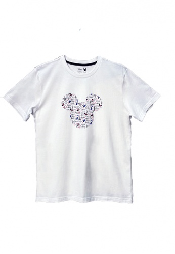 Universal Traveller white Universal Traveller Mickey Graphic T-Shirt France (Unisex) - TD21004 E7852AAAC8347AGS_1