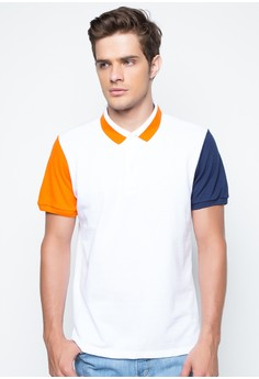 Color-Blocked Polo Shirt