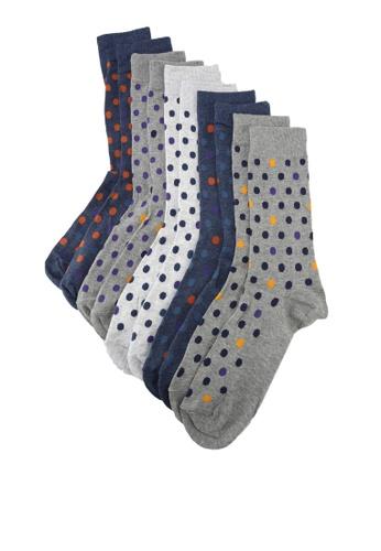 Burton Menswear London multi 5 Pack Coloured Spotted Socks 7F136AAA34C7B1GS_1
