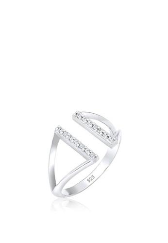 Elli Germany silver Ring Geo Swarovski Crystals 925 Sterling Silver  E18FFAC860B040GS 1 db18b4b0eb