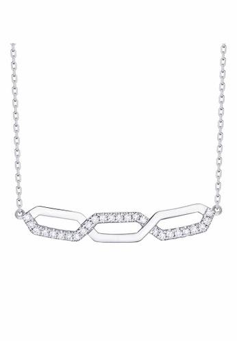 Smiling Rocks white 10K White Gold 0.17ct Lab Grown Diamond Essentials Necklace 6C1A2AC49A1CF5GS_1
