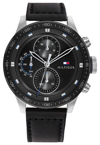 Tommy Hilfiger black Tommy Hilfiger Black Sunray  Men's Watch (1791810) 0EF7FAC32D2D61GS_1