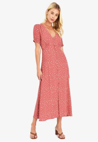 FORCAST pink Cushnie Button Up Dress 9D88FAA93A6DB3GS_1