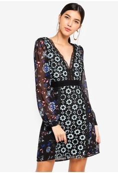 94c837d8d75 Little Mistress multi Mixed Print Shift Dress 8A89BAACE011ACGS 1