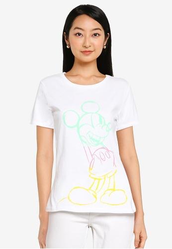 KOTON white Mickey T-Shirt 2B09EAA60066FFGS_1