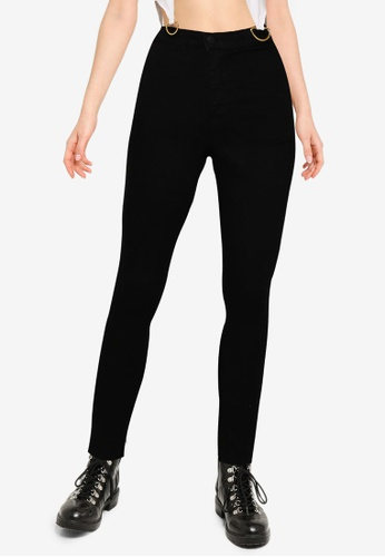 Public Desire black High Waisted Skinny Jeans CC288AA3581416GS_1