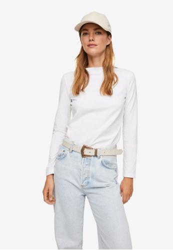 Mango white Long Sleeves Cotton T-Shirt E1D92AAE2E1FF4GS_1