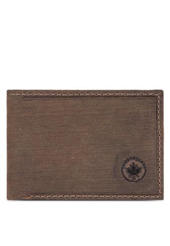 Lumberjacesprit女裝ks 暗紋對折皮夾, 飾品配件, 皮革