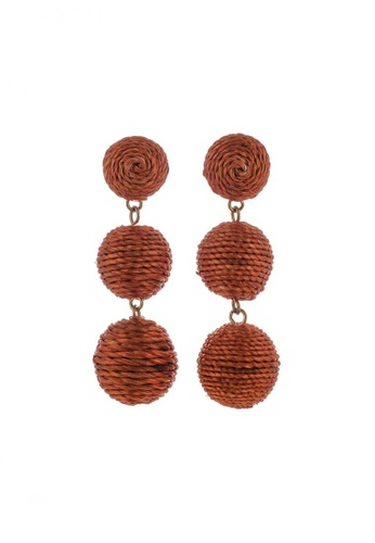 Style Cat orange Style Cat Havana Ball Earrings B73DCACA6DAAF7GS_1