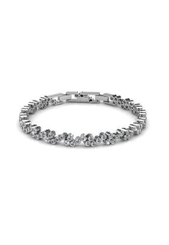 Her Jewellery silver Her Jewellery Joyful Bracelet with Premium Grade Crystals from Austria HE581AC0RDGFMY_1