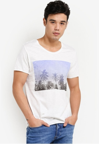 Selected Homme white Casual Short Sleeve Tee SE364AA71TOYMY_1
